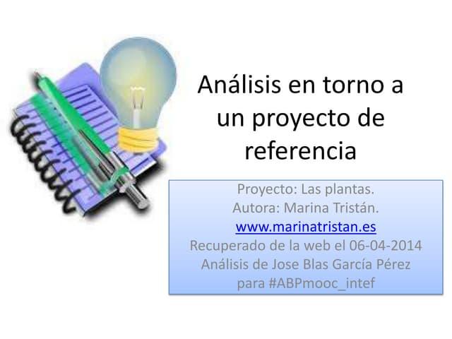 Análisis en torno a un proyecto de referencia actividad1