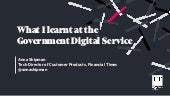 What I learnt at the Government Digital Service
