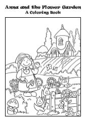 Coloring Book: Anna and the Flower Garden
