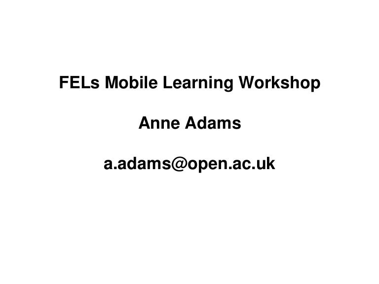Anne adams issues and barriers to mobile learning
