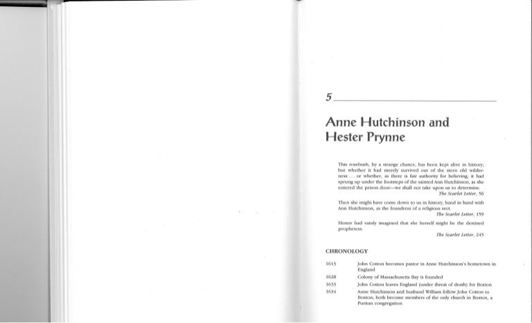 Writing my research paper nathaniel hawthorne's references to anne hutchinson in his work