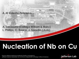 Anne marie valente feliciano - nucleation of nb films on cu substrates