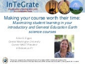 Making Your Course Worth Their Time