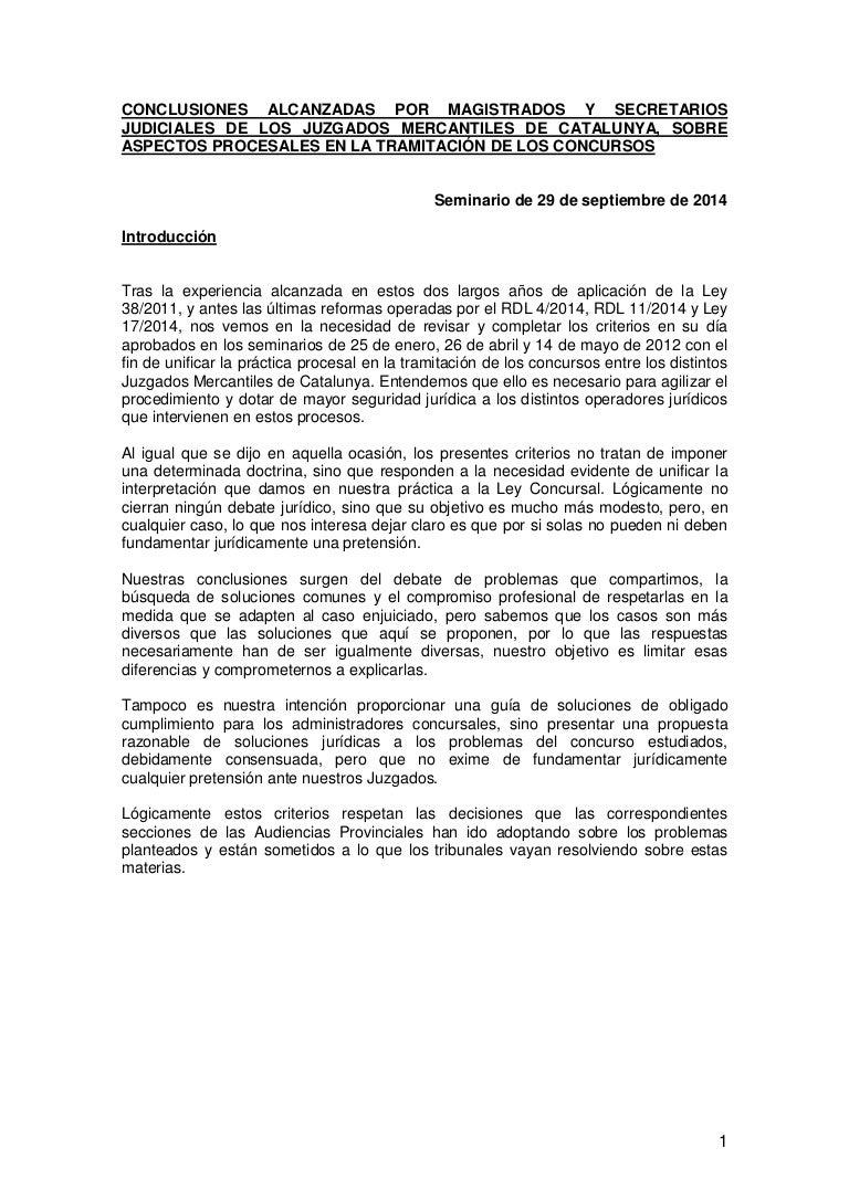 UNIFICACIÓN DE CRITERIOS DE MAGISTRADOS Y SECRETARIOS JUDICIALES DE L…