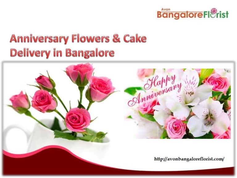Anniversary Flowers And Cake Delivery In Bangalore