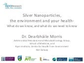 Annual environment and health conference 2018 speaker7 dearbhaile morris_deter_project