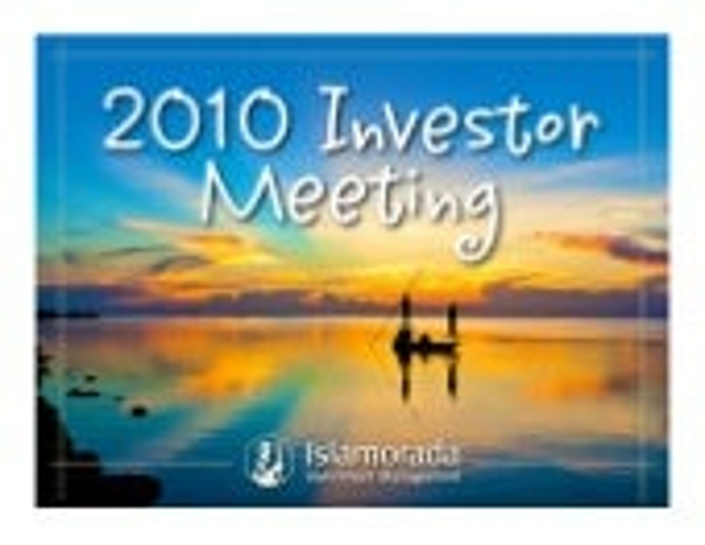 Islamorada Investment Management 2010 Annual Meeting