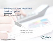 Annuity and Life Insurance Product Update - Q3 2017