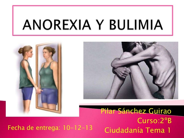 anorexia vs bulimia In today's society many people are affected by eating disorders and their deadly side effects two of the most common eating disorders, anorexia nervosa and bulimia nervosa, are often confused for one another because they each share many of the same qualities however, each disorder has its own.