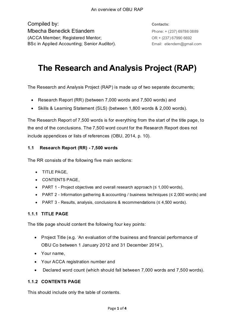 an overview of obu rap