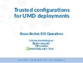 Trusted Configurations for e-Infrastructure Deployment
