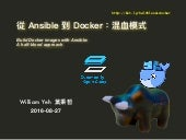 從 Ansible 到 Docker:混血模式 (Build Docker images with Ansible: A half-blood approach)