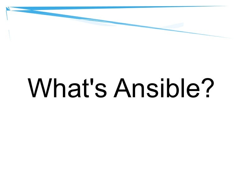 Ansible get started