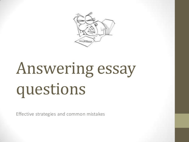 answering essay questions
