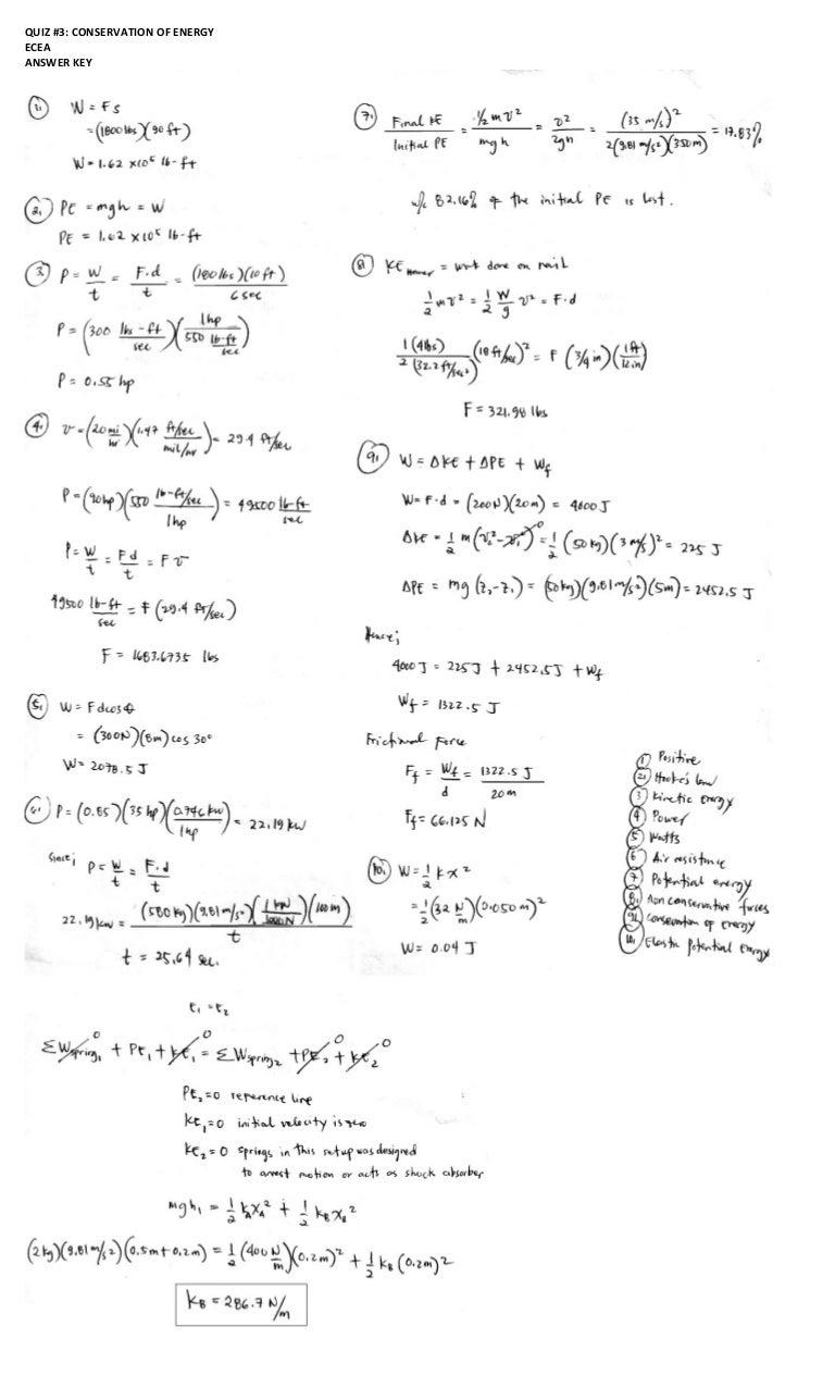 Answer key exam q3