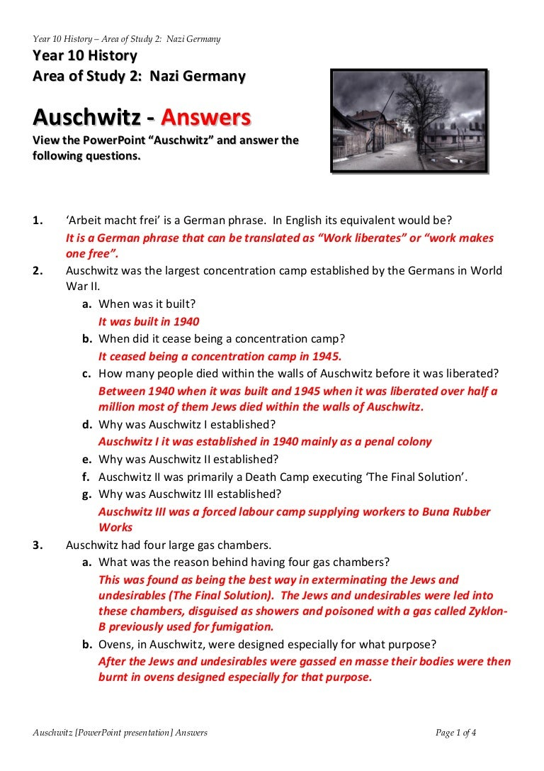 worksheet Holocaust Worksheet answers powerpoint auschwitz worksheet