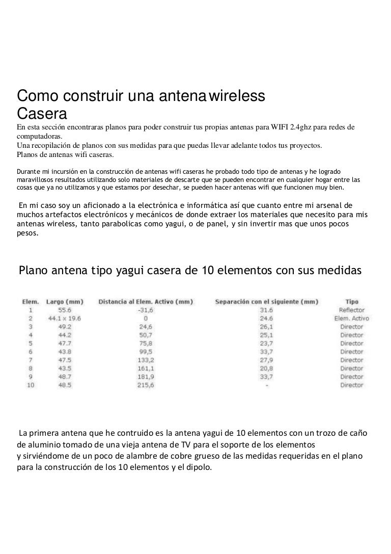 Circuito Wifi : Antenas wifi caseras