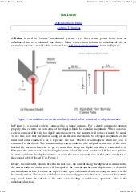 Antenna theory baluns