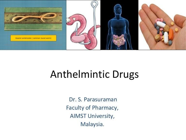 anthelmintic drug list)