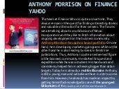Anthony morrison on finance yahoo
