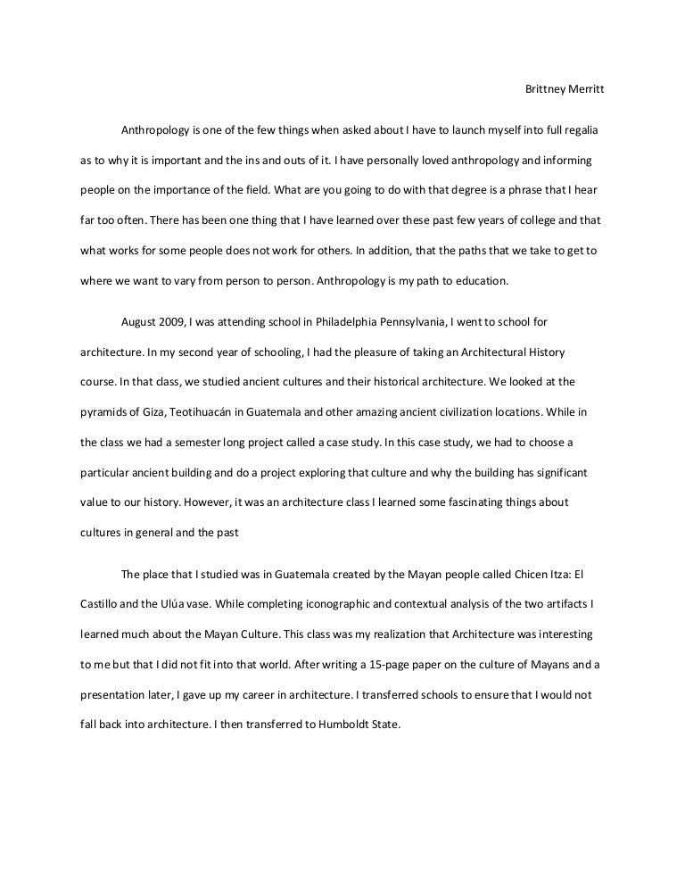 anthropology cover letter - Selo.yogawithjo.co