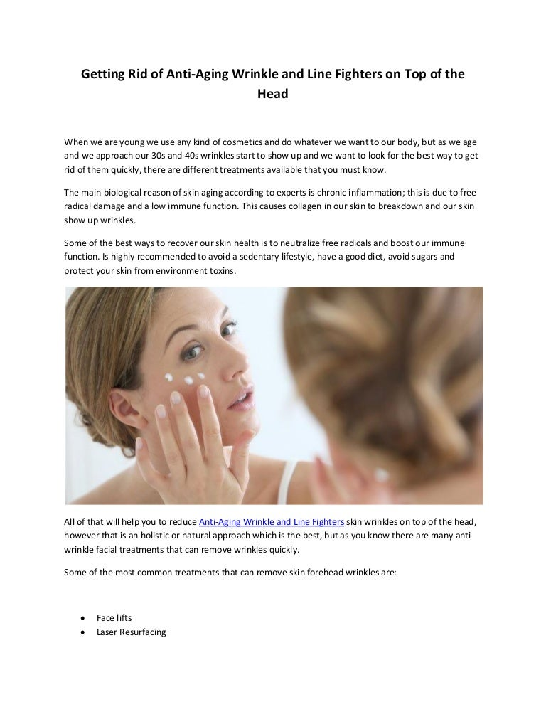 Anti Aging Wrinkle And Line Fighters