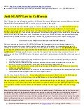 Anti slapp law of california