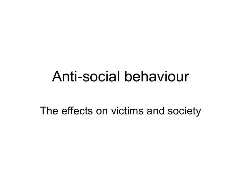anti social behaviour