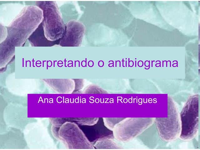 Antibiograma aula