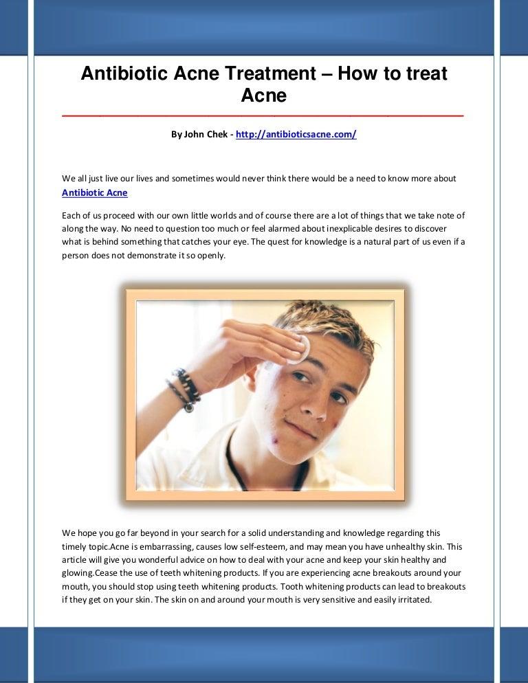 Antibiotic Acne