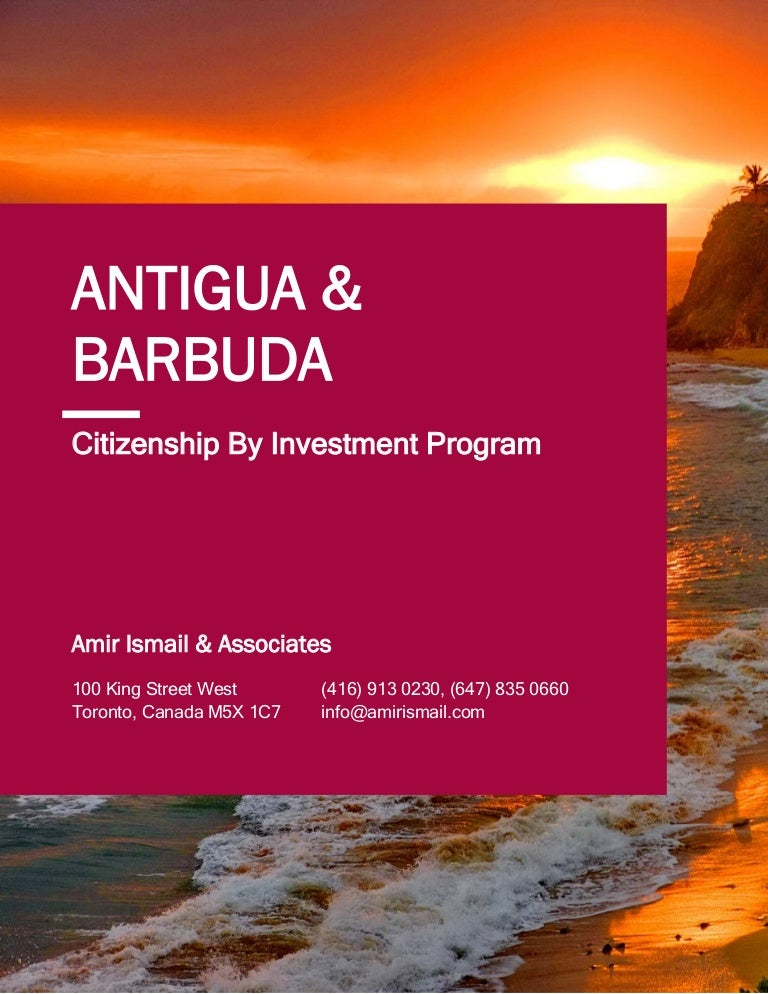 Citizenship by investment antigua oco forex definition