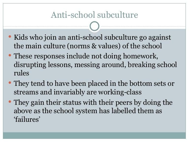 anti school subculture