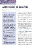 Antitérmicos en pediatría