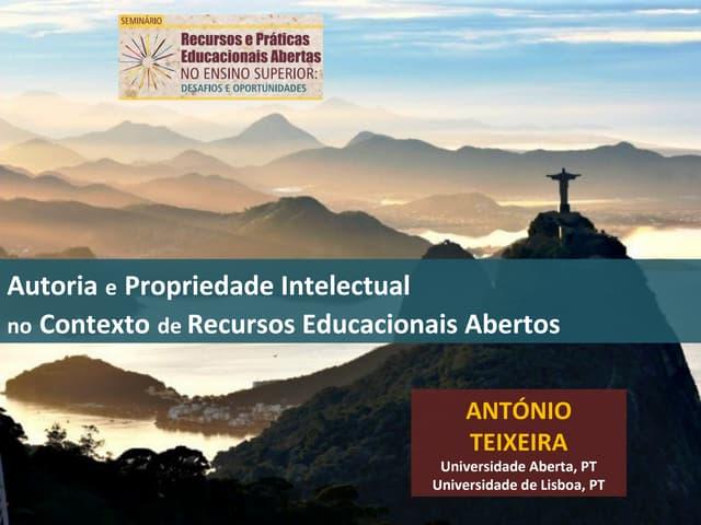 Semiário Recursos e Práticas Educacionais Abertas no Ensino Superior: desafios e oportunidades - António Teixeira