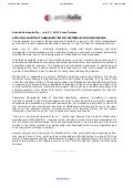 Antoitalia Press Release 27 July 2011 - Antoitalia Hospitality and Worldhotels agreement