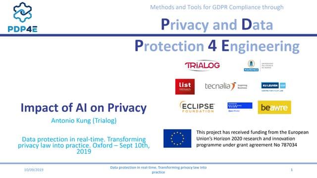Antonio kung impact of ai on privacy   sept 10