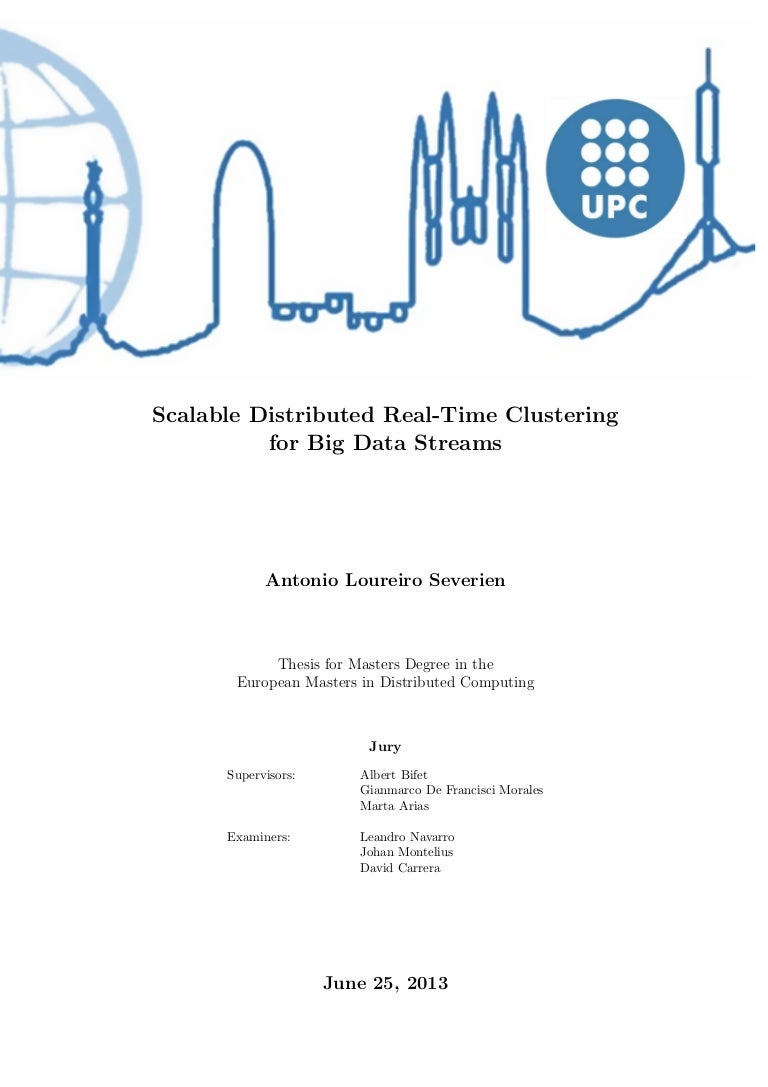 Clustering in data mining thesis Patrick Zecchin