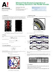 Efficient Finite Element Computation of Circulating Currents in Thin Parallel Strands