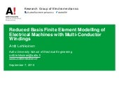 Reduced Basis Finite Element Modelling of Electrical Machines with Multi-Conductor Windings