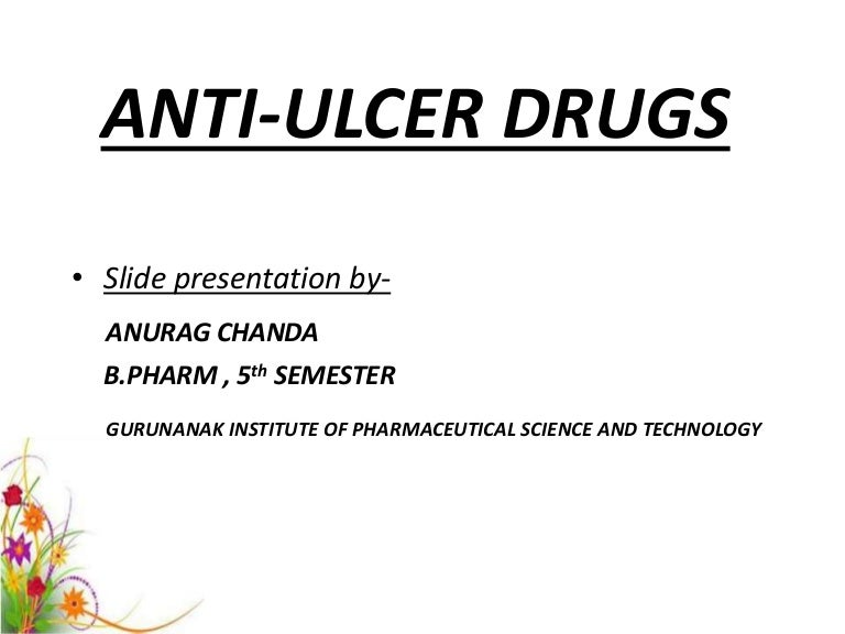 Anti ulcer drugs.