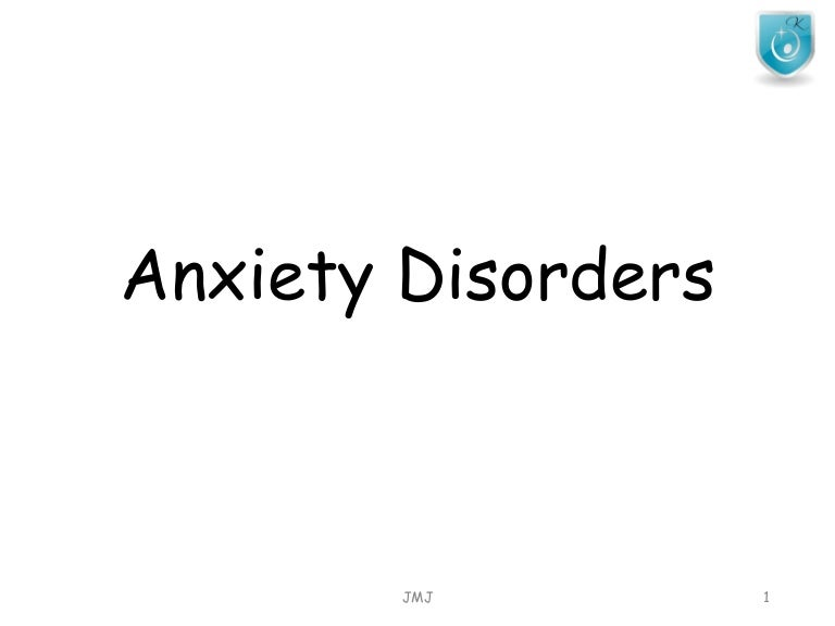 Anxiety disorders-