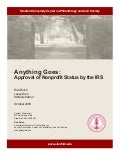 Approval of Nonprofit Status by the IRS - Rob Reich - PACS