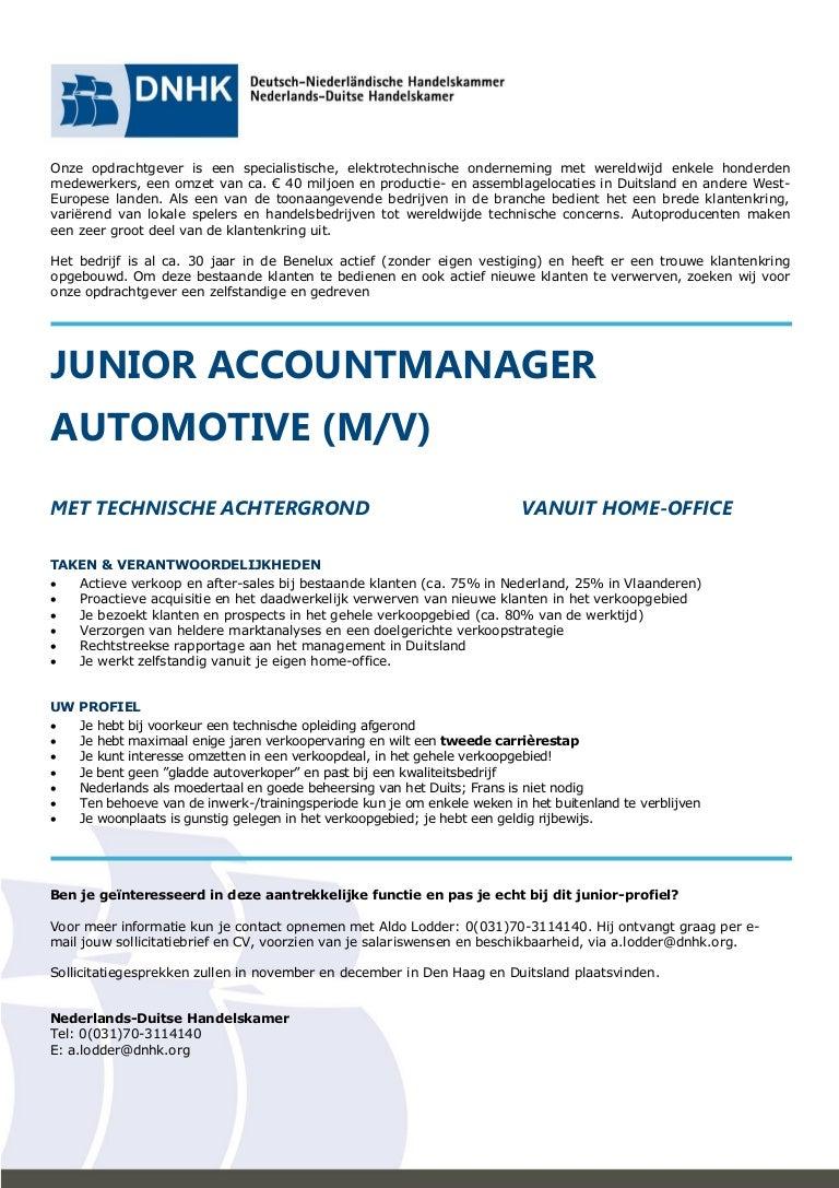 motivatiebrief autoverkoper Junior Accountmanager Automotive