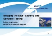 Bridging the gap - Security and Software Testing