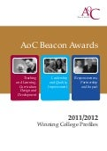 AoC Beacon Awards Mini Profiles 2011/12