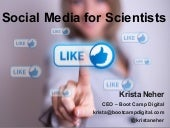 Social Media for The Scientific Community (and scientists) AOCS presentation