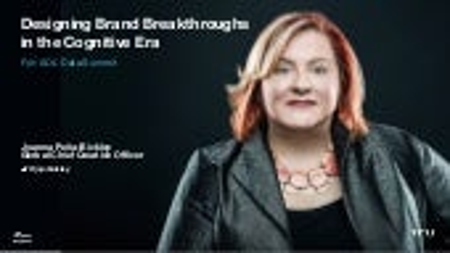 Designing Brand Breakthroughs In The Cognitive Era