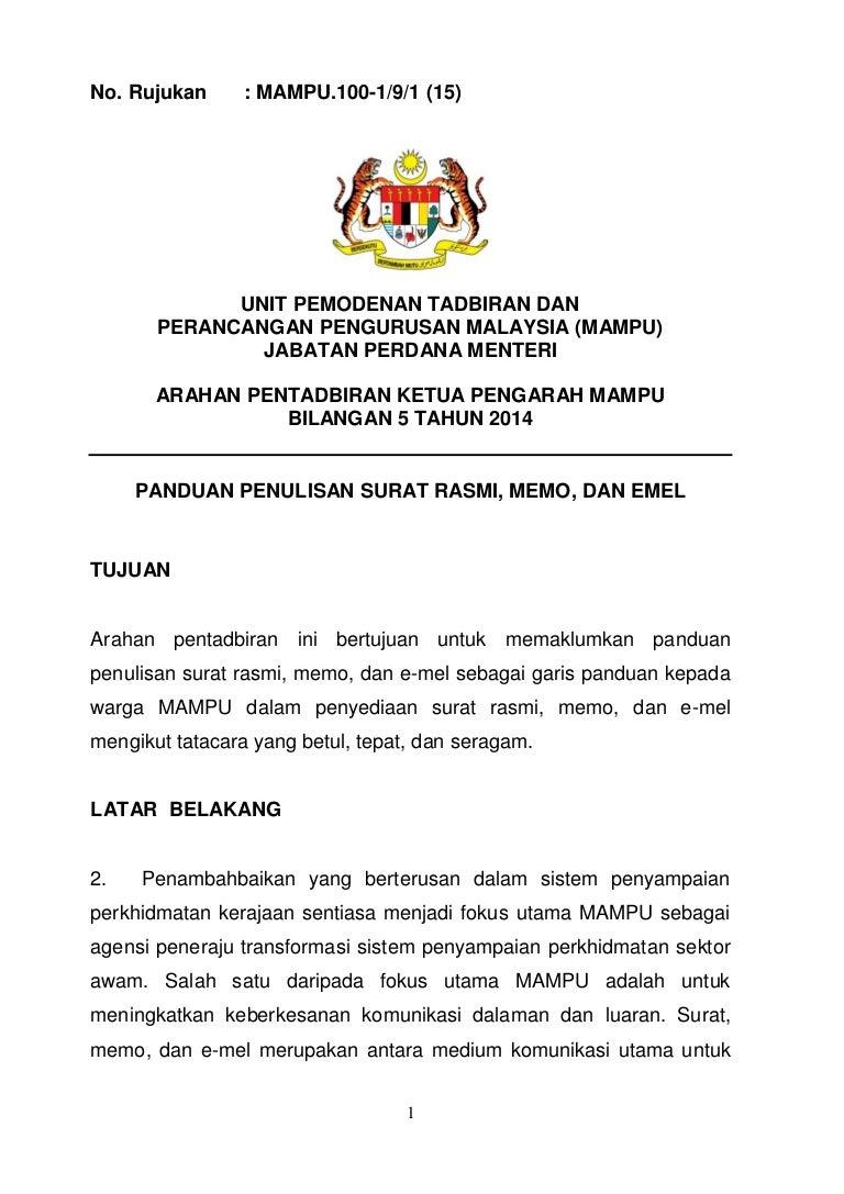 Ap 5 tahun 2019 pdf(penulisan surat rasmi)