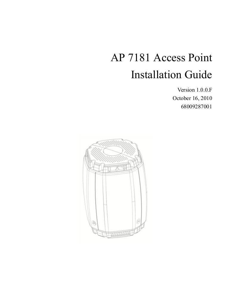 Ap7181 installation guide