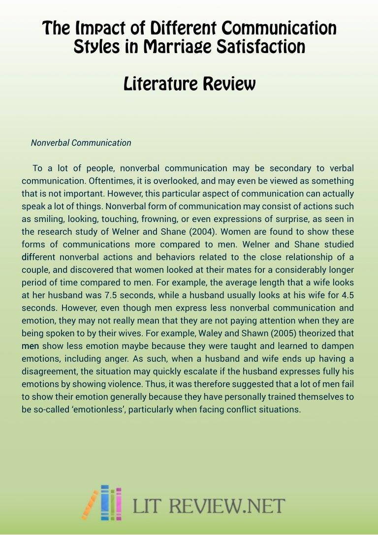 apa literature review format